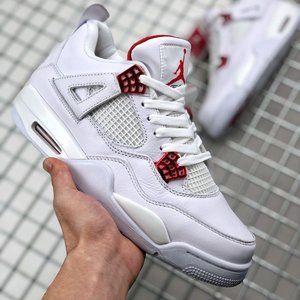 """Air Jordan 4 """"Red Metallic"""" White Red"""